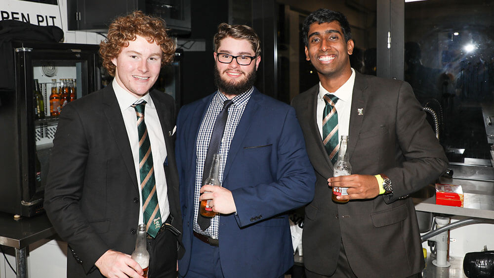 St Leo's Students at event